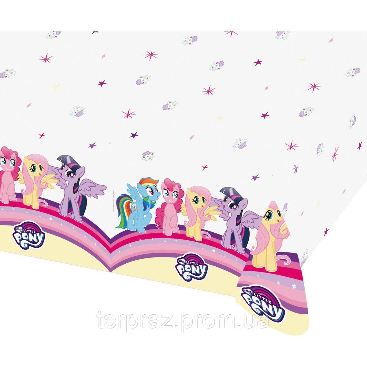 Праздничная сервировка /  Скатерть бумажная My little pony 120х180см/A