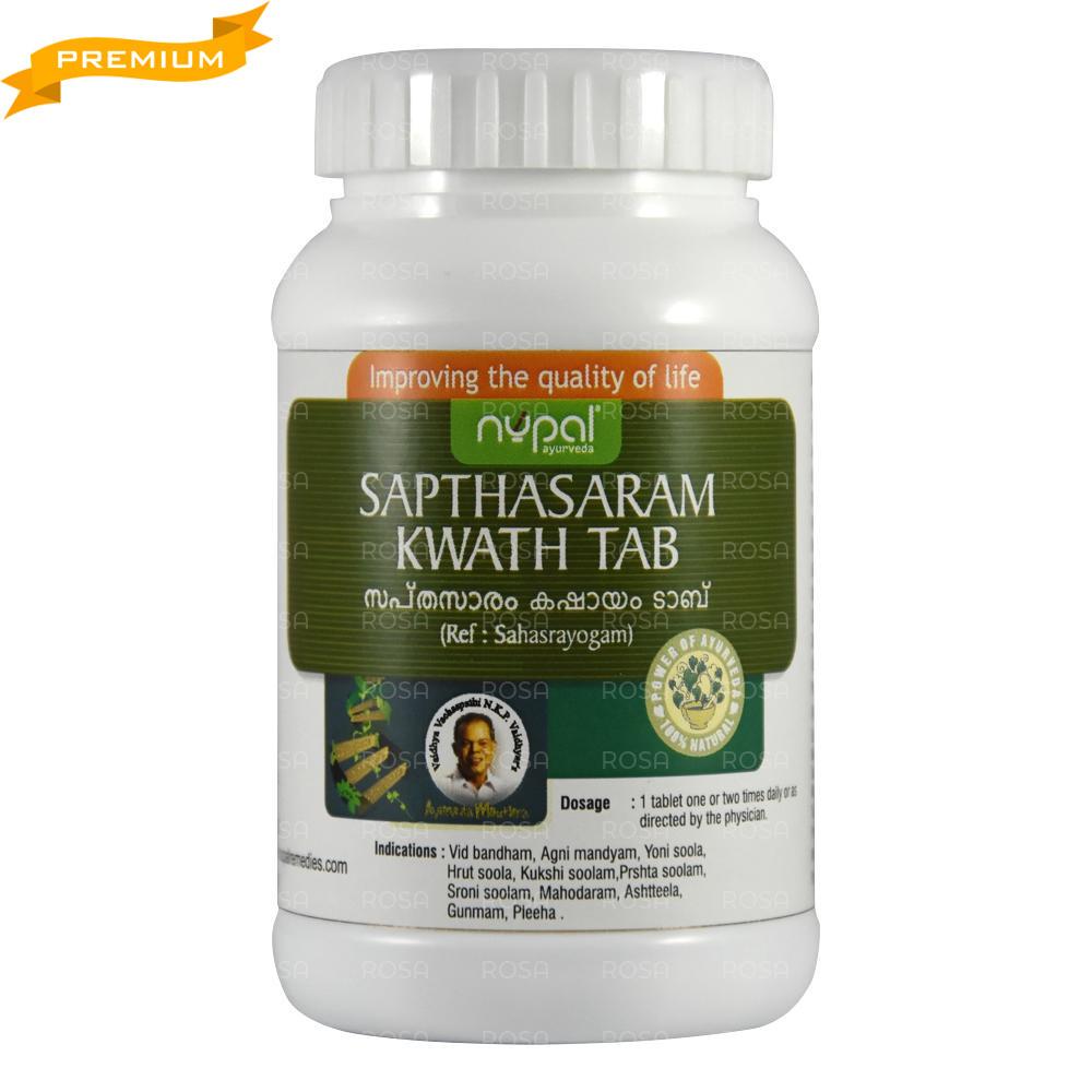 Саптасарам кватха (Sapthasaram kwath tab, Nupal), 100 таб. менструальные гормональные расстройства,