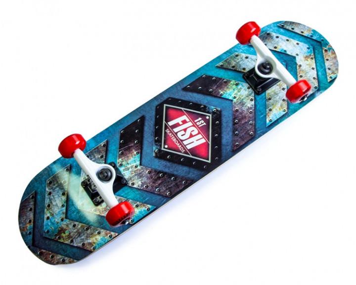 Дерев'яний СкейтБорд від Fish Skateboard First Гарантія якості Швидка доставка