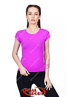 Спортивная футболка женская RSF 50, фиолетовая (бифлекс, р-р S-XL)