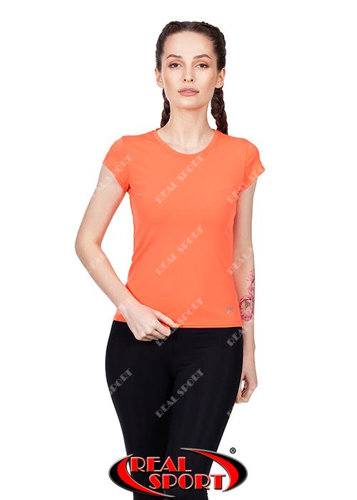 Спортивная футболка женская RSF 50, оранжевая (бифлекс, р-р S-XL)