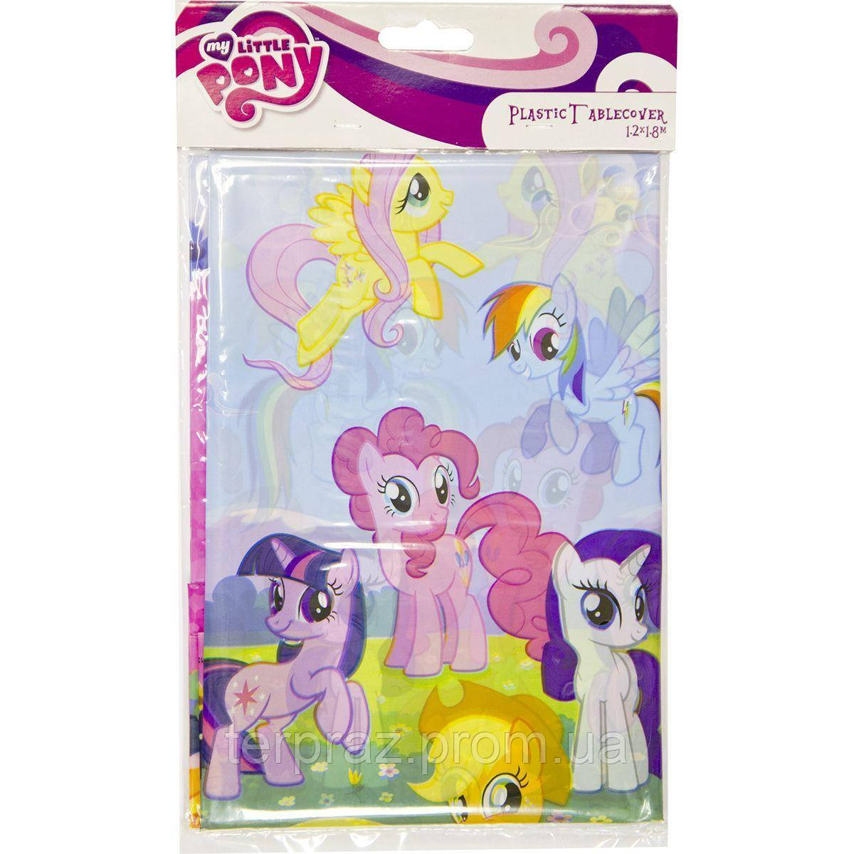 Праздничная сервировка /  Скатерть п/э My Little Pony 1,2х1,8м/А