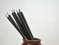 Свечи черные восковые 100% premium quality ⭐⭐⭐⭐⭐ /3 h/ 1 см Ø 20 см /собственное производство✅, фото 1