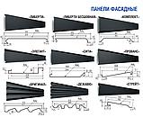 """Фасадные панели """"Либерти"""" Модуль Украина 0,5 мм Ral 7024, фото 4"""