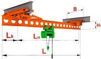 Кран-балки мостовые электрические однобалочные подвесные г/п 1т пролет 10,5 м.