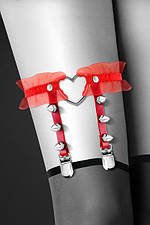 Гартер Bijoux Pour Toi - WITH HEART AND SPIKES Red