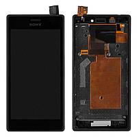 Дисплейный модуль для Sony D2302 Xperia M2 Dual (Black) в рамке Original