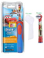 Детская электрическая зубная щетка Oral-B D12. 513 (для мальчика) 2 насадки в комплекте+ колпачок