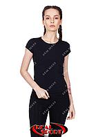 Спортивная футболка женская RSF 50, черная (бифлекс, р-р S-XL)