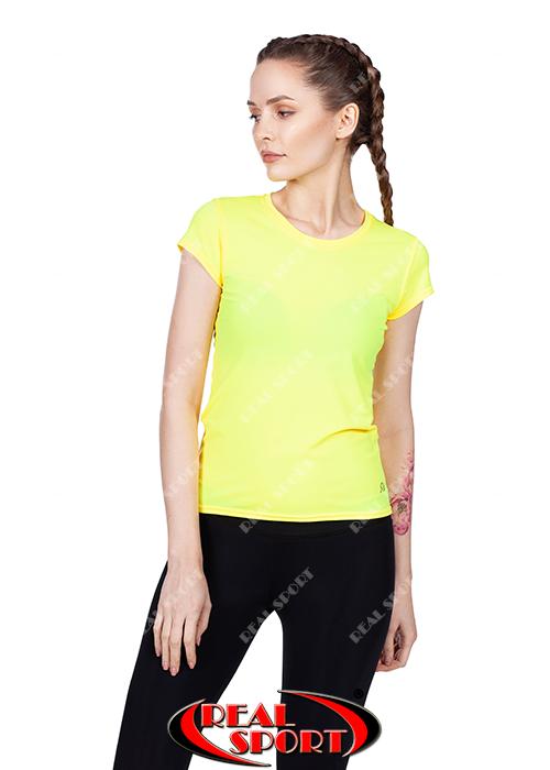 Спортивная футболка женская RSF 50, желтая (бифлекс, р-р S-XL)
