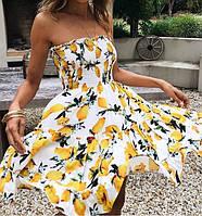 Очень милое и нежное летнее платье сарафан с открытыми плечами, красивая летняя одежда