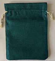 Мешочек из джута, зеленый