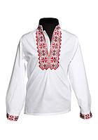 Белая льняная вышиванка для мальчика (размеры 104-158)