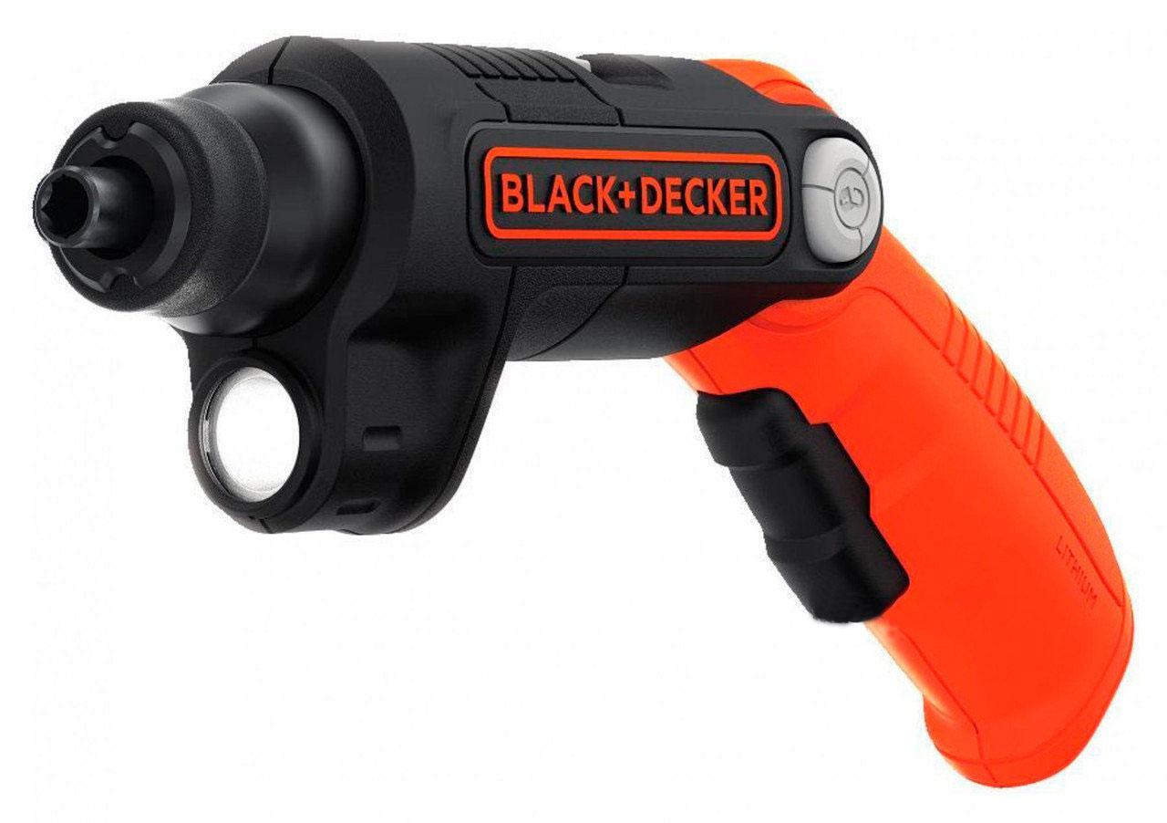 Отвертка аккумуляторная 3.6 В Li-Ion с подсветкой - Black & Decker