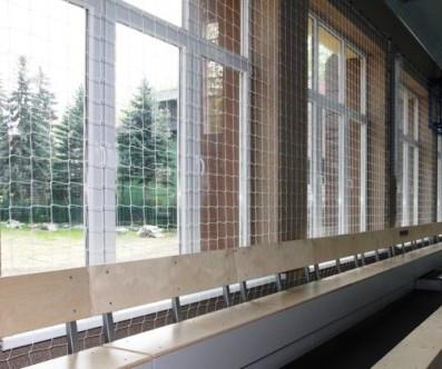 Загороджувальна сітка (розмежувальна), ячея 50х50 д-р шнура 3,5 мм, біла (для вулиць і залів)