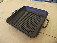 Квадратная чугунная сковорода-гриль СИТОН 280*280мм
