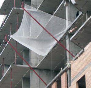 Сетка защитно-улавливающая капроновая для строек, ячея 80х80, д-р шнура 5мм (ЗУС)