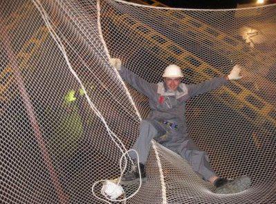 Сітка захисно-уловлює капронова для будівництв, ячея 40х40, д-р шнура 5мм (ЗУС)