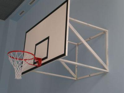 Щит баскетбольный игровой 1800х1050 мм (ламинированная влагостойкая фанера 10 мм) с силовой антивибрационной рамой