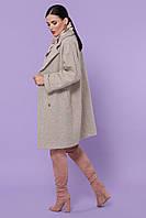Женское осеннее серое пальто из шерсти