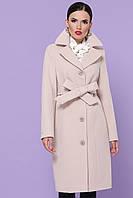 Светлое женское пальто демисезонное