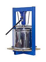 Пресс для фруктов 25л с домкратом, давление 5 тон, гидравлический. Для яблок, винограда, сыра и тд.