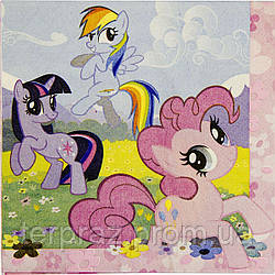 Праздничная сервировка /  Салфетка My Little Pony 33см 16шт/A
