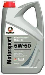 Моторне масло Comma MOTORSPORT 5W-50 5л