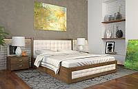 Кровать деревянная с подъемным механизмом Рената Д ТМ Арбор Древ сосна, 1600х2000, орех светлый