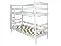 Двухъярусная кровать БЕБИ из сосны белая