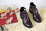 Ботинки цвета марсала ILONA, фото 2