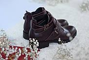 Ботинки цвета марсала ILONA, фото 4