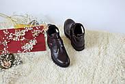 Ботинки цвета марсала ILONA, фото 5