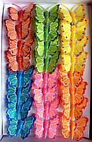 Бабочки из перьев 5 см