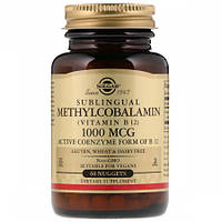 Витамины Solgar Sublingual Methylcobalamin (Vitamin B12) 1000 мкг (60 таблеток)