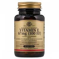 Витамины Solgar Vitamin Е 67 мг 100 IU d-Alpha Tocopherol & Mixed Tocopherols (100 желатиновых капсул)