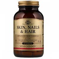 Комплекс для Кожи Ногтей и Волос Улучшенная Формула с MSM Solgar Skin, Nails, & Hair Plus MSM (120 таблеток)