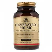 Антиоксидант который способствует омоложению организма Solgar Resveratrol with red Wine Extract 250 мг (60