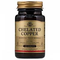 Хелатних Мідь Solgar Chelated Copper (100 таблеток)