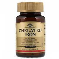 Хелатное железо Solgar Chelated Iron (100 таблеток)