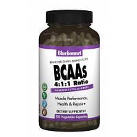 BCAA аминокислоты Bluebonnet Nutrition Bcaas 4:1:1 Ratio (120 желевых капсул)
