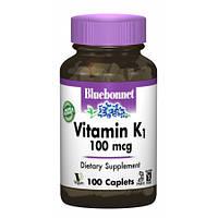 Витамины Bluebonnet Nutrition Vitamin К1 100 мкг (100 капсул)