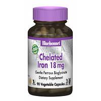 Хелатное Железо Bluebonnet Nutrition Chelated Iron 18 мг (90 желевых капсул)