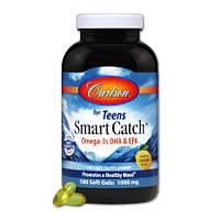 Омега 3 для Подростков Carlson Smart Catch Omega 3s DHA & EPA (180 желатиновых капсул)