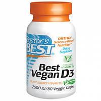 Веганский Витамин D3 Doctor's Best Vegan Vitamin D3 2500IU (60 желевых капсул)