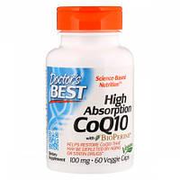 Антиоксидант для поддержки сердечно-сосудистой системы Doctor's Best High Absorption Coenzyme Q10 100 мг BioPerine (60 желевых капсул)