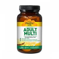 Витамины для Взрослых Country Life Витамины для Взрослых Вкус Ананаса Adult Multi (60 жевательных таблеток)