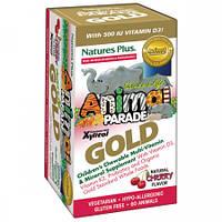 Витамины для Детей Вкус Вишни Natures Plus Animal Parade Gold (60 жевательных таблеток)