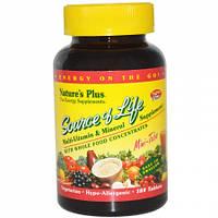 Вітаміни Natures Plus Source of Life (180 міні таблеток) (106033) Фірмовий товар!