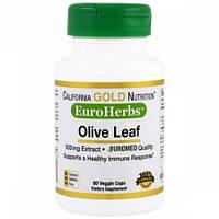 Экстракт Оливковых Листьев California Gold Nutrition Olive Leaves 500 мг (60 капсул)